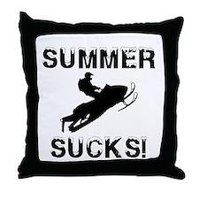 Summer Sucks Throw Pillow