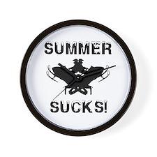 Summer Sucks Wall Clock