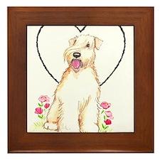 Soft Coated Wheaten Terrier Framed Tile