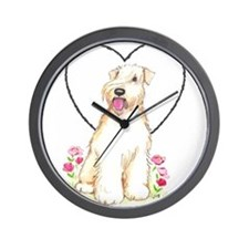 Soft Coated Wheaten Terrier Wall Clock