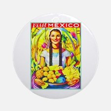 Mexico Travel Poster 7 Ornament (Round)