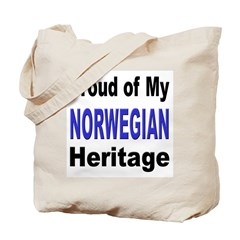 Proud Norwegian Heritage Tote Bag