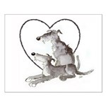 Scottish Deerhounds in Heart Small Poster