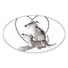 Scottish Deerhounds in Heart Decal