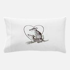 Scottish Deerhounds in Heart Pillow Case