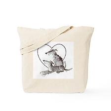 Scottish Deerhounds in Heart Tote Bag