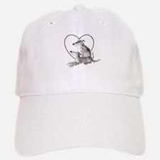 Scottish Deerhounds in Heart Baseball Baseball Cap