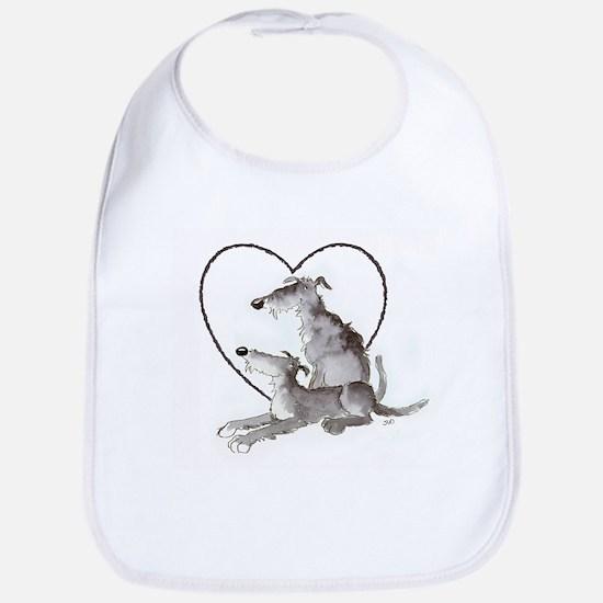 Scottish Deerhounds in Heart Bib