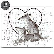 Scottish Deerhounds in Heart Puzzle