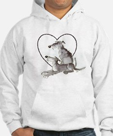 Scottish Deerhounds in Heart Hoodie
