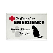 Cat Rescue Rectangle Magnet