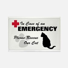 Cat Rescue Rectangle Magnet