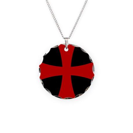 Templar 2 Necklace Circle Charm