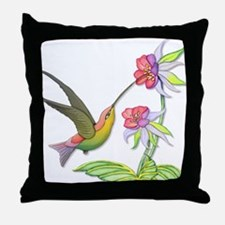 Hummingbird Flight Throw Pillow