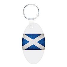 Scotland Aluminum Oval Keychain