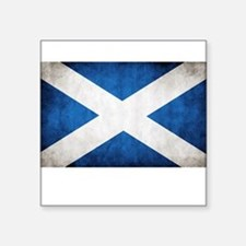 "Scotland Square Sticker 3"" x 3"""
