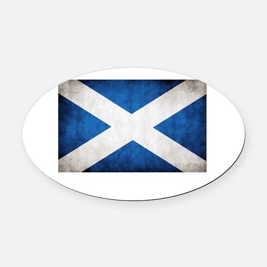 Scotland Oval Car Magnet