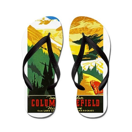 Canada Travel Poster 7 Flip Flops