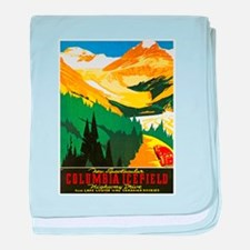 Canada Travel Poster 7 baby blanket