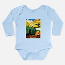 Canada Travel Poster 7 Long Sleeve Infant Bodysuit