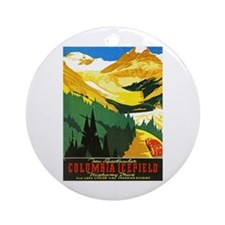 Canada Travel Poster 7 Ornament (Round)