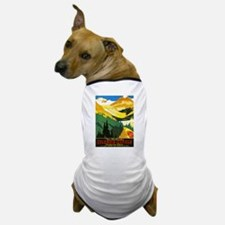 Canada Travel Poster 7 Dog T-Shirt