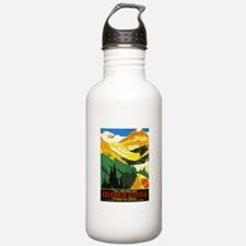 Canada Travel Poster 7 Sports Water Bottle