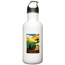 Canada Travel Poster 7 Water Bottle