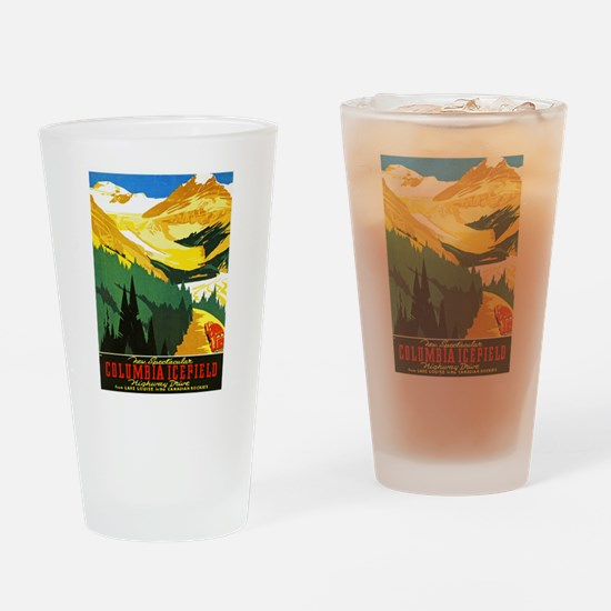 Canada Travel Poster 7 Drinking Glass