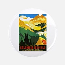 "Canada Travel Poster 7 3.5"" Button"
