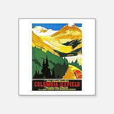"""Canada Travel Poster 7 Square Sticker 3"""" x 3"""""""