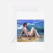 Bouguereau - The Wave Greeting Card