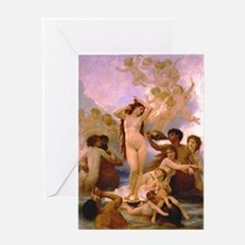 Nude Bouguereau The Birth of Venus Greeting Card