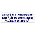 Comparing Clinton and Bush Bumpersticker
