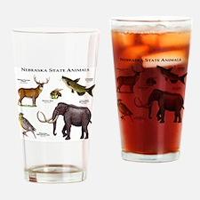 Nebraska State Animals Drinking Glass