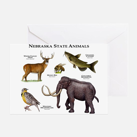 Nebraska State Animals Greeting Card