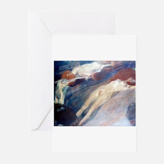 Klimt - Moving Water Greeting Cards (Pk of 10)