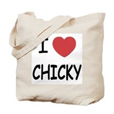 I heart CHICKY Tote Bag