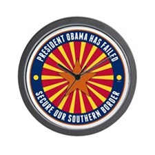 Secure Our Southern Border Wall Clock