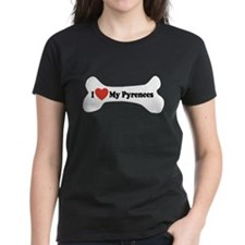 I Love My Pyrenees - Dog Bone Tee