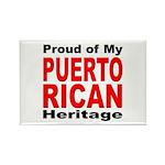 Proud Puerto Rican Heritage Rectangle Magnet (10 p