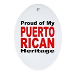 Proud Puerto Rican Heritage Oval Ornament