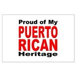 Proud Puerto Rican Heritage Large Poster