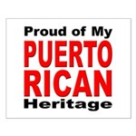 Proud Puerto Rican Heritage Small Poster