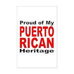 Proud Puerto Rican Heritage Mini Poster Print