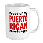 Proud Puerto Rican Heritage Large Mug