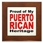 Proud Puerto Rican Heritage Framed Tile