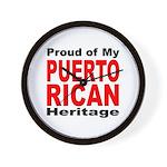 Proud Puerto Rican Heritage Wall Clock
