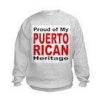 Proud Puerto Rican Heritage (Front) Kids Sweatshir