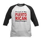 Proud Puerto Rican Heritage Kids Baseball Jersey